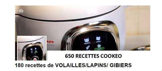 180 recettes cookeo volailles , lapin ,gibier . Un PDF à télécharger gratuitement