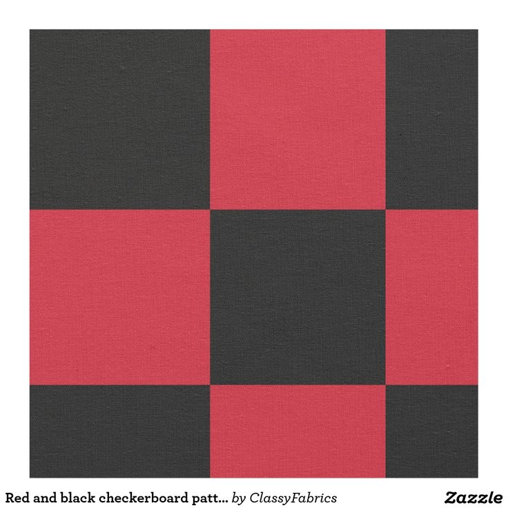 Red and black checkerboard pattern fabric