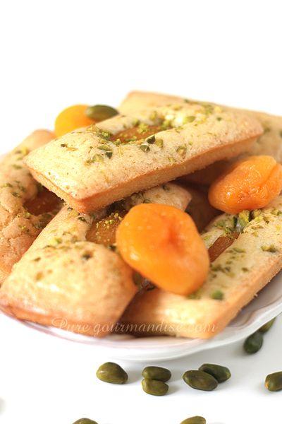 Financiers aux abricots et pistaches - www.Puregourmandise.com