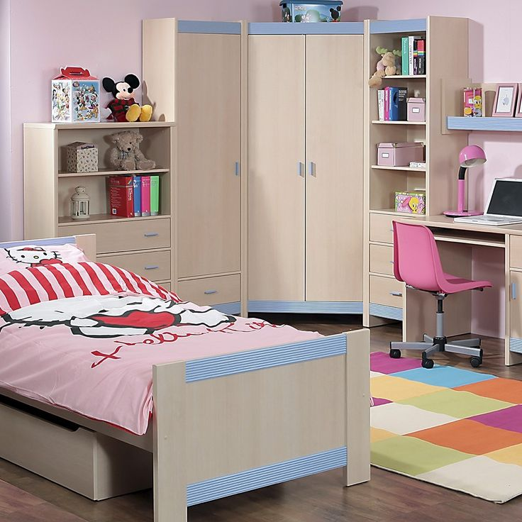 Fanfair Kids Single Bed with Under Drawer in Beech with Blue Trim is suitable for tots to teens finished in high quality easy to clean Melamine, and available with a choice of Blue/Pink or Beige colour trims. #Furniture #BedroomFurniture #Bedroom #FanfairKids #Bed #SingleBed http://pricecrashfurniture.co.uk/fanfair-kids-single-bed-with-under-drawer-in-beech-with-blue-trim.html
