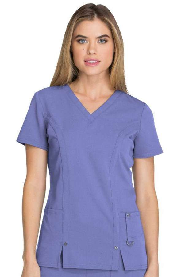 Dickies Xtreme Stretch 82851 Women/'s Jr Fit V-Neck Top
