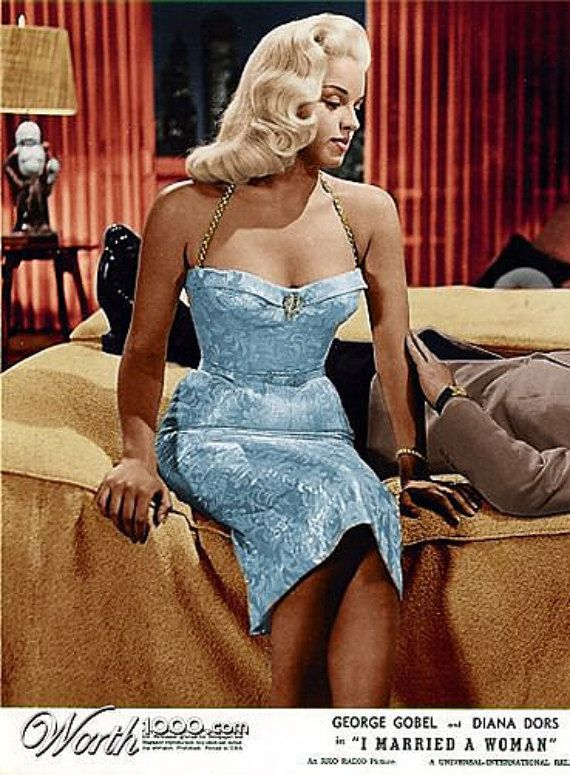 Diana Dors...I married a woman by IconicDresses on Etsy