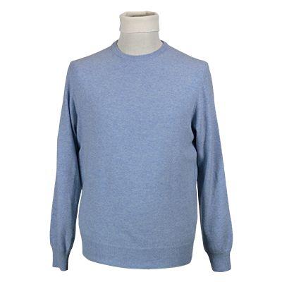 Maglia giro collo misto cachemere - Azzurro - Invernale. € 39,10. #hallofbrands #hob #maglia #sweater #jersey #knitwear #invernale #wintry #winter