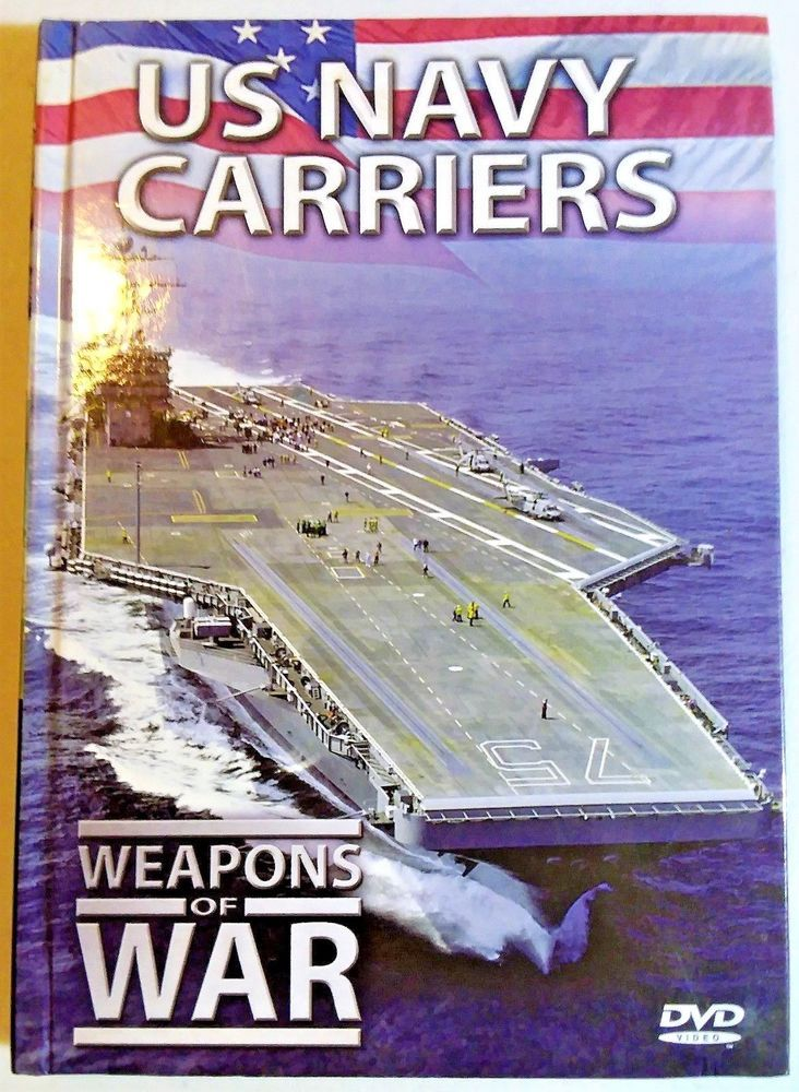 Weapons of War: US Navy Carriers (DVD 2006) Hard Back History Book Style DVD