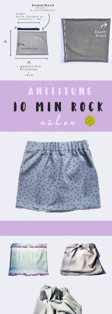 Rock nähen in 10 Minuten – Das Quadrat Schnittmus…