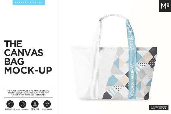 Canvas Bag Mock-up by Mocca2Go/mesmeriseme on @creativemarket