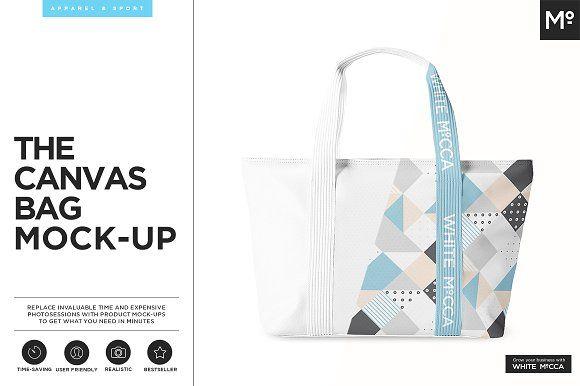 Canvas Bag Mock-up by Mocca2Go/mesmeriseme on @creativemarket