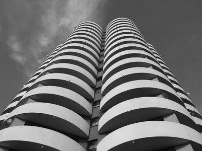 "A. Franta, H. Buszko, ""Corn"" skyscrapers in Katowice, Poland"