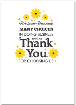 Floral business thank you cards - Business Greeting Cards