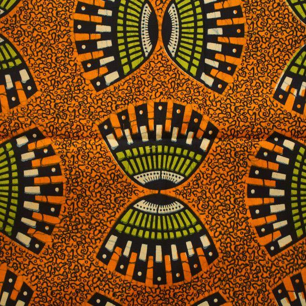 Tissus africains, tissu ethnique orange- 6 Yards est une création orginale de urbanstax sur DaWanda