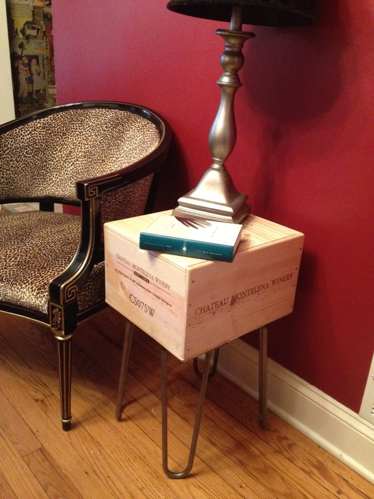 Another Version Of The Possible Wine Crate Nightstand