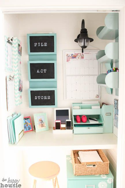 Etonnant Get Organized In A Small Space With A Cloffice {Office Closet
