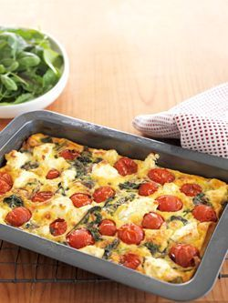 Spinach and Cavolo Nero, Cherry Tomato Frittata #Spinach #CavoloNero #CherryTomatoFrittata