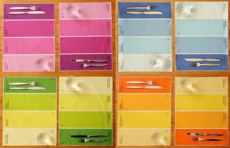 Paint Chip Placemats