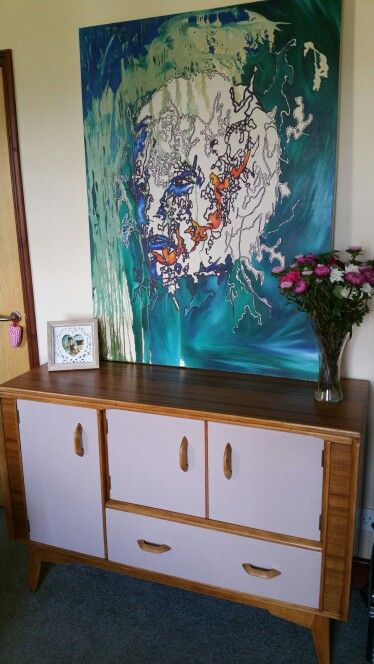 G-plan e-gomme sideboard mid-century fifties sixties painted upcycled cupboard - painted with Dulux Made by Me, Satin Muted Mocha