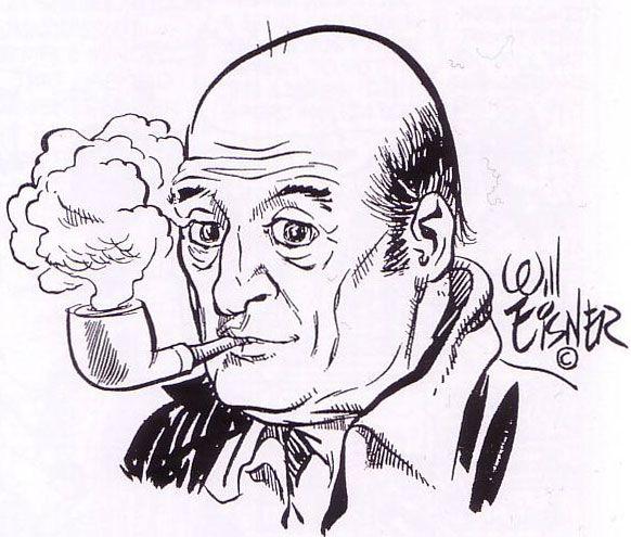 Will Eisner, self-portrait