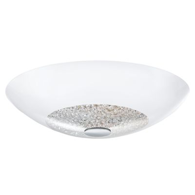 crystal and chrome ceiling luminaire
