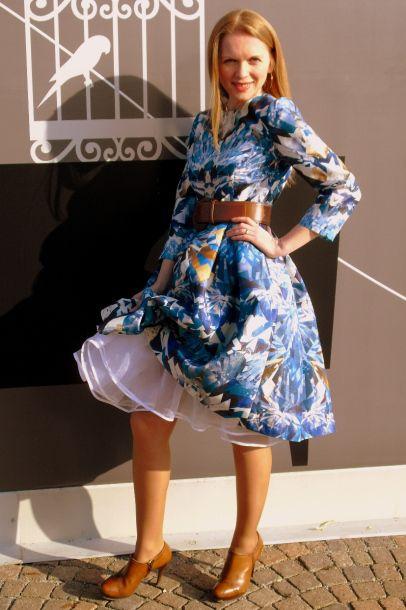 kaleidoscope print dress