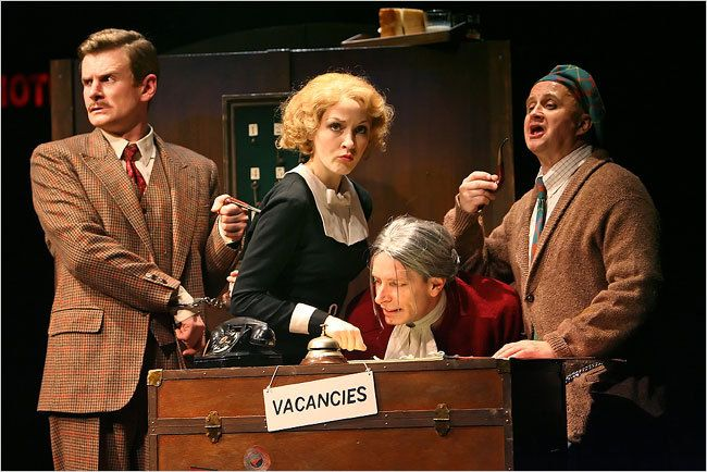 """39 Steps at Criterion Theatre in #London - An absolutely fantastic play! When in London you should try to catch a play or a musical at one of the West End theatres - I´ve never been disappointed. Last time I saw """"39 steps"""" and loved it - brilliant actors, fantastic use of the stage and props, and I love the 1920s costumes!"""