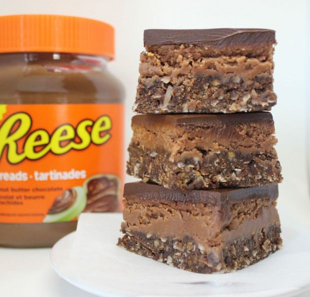 Reese's Peanut Butter Chocolate Nanaimo Bars | Bakers Beans