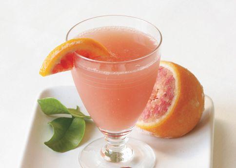 Blood orange Champagne cocktail. Source: Bon Appetit