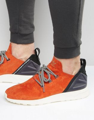 adidas Originals ZX Flux ADV X Trainers In Red BB1406