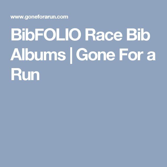 BibFOLIO Race Bib Albums   Gone For a Run