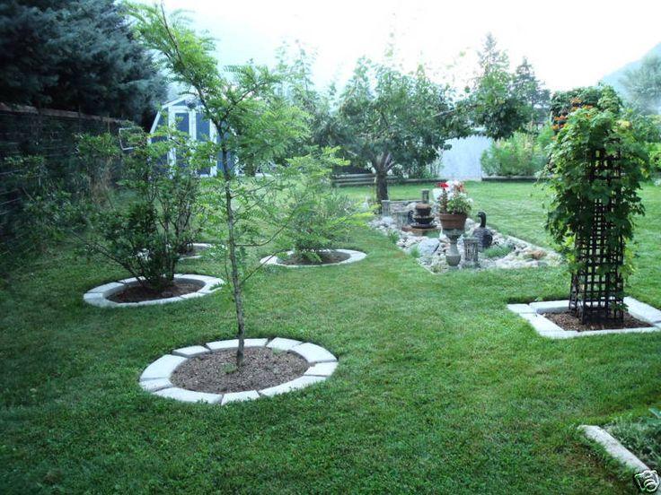 4 large diy molds make concrete garden edging lawn
