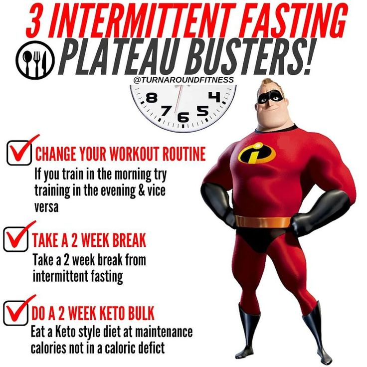 3 intermittent fasting plateau busters if you want to