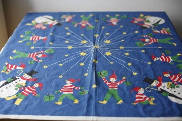 Scandinavian Tablecloth 北欧雑貨 テーブルクロスクリスマスブルーレトロ インテリア 家具 Modern ¥2000yen 〆05月20日