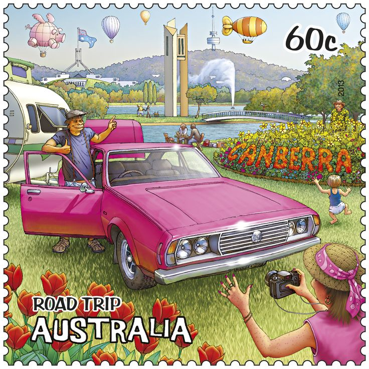 Canberra and the annual Floriade on our stamp. #stampcollecting