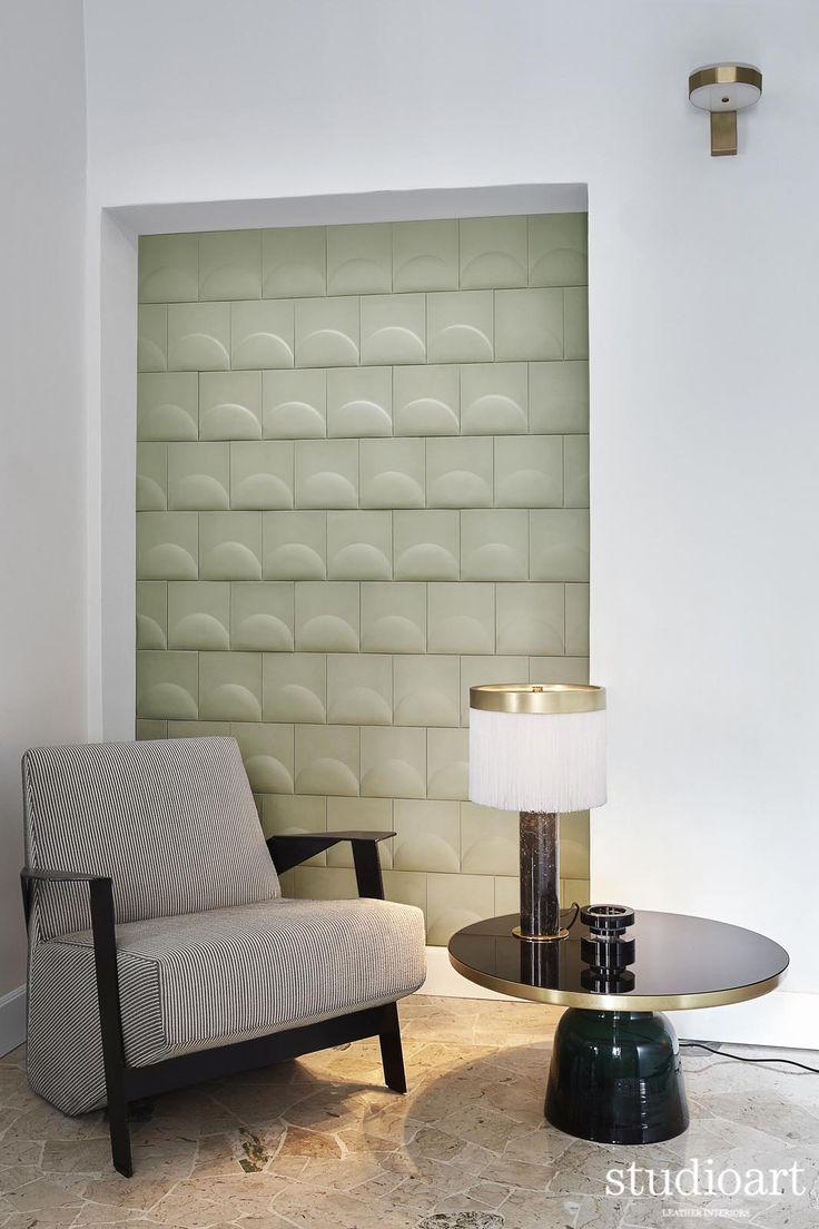 Semitondo Polis onice  #studioartleather #leather #leatherwall #design #homedecor #home #niche #rooms