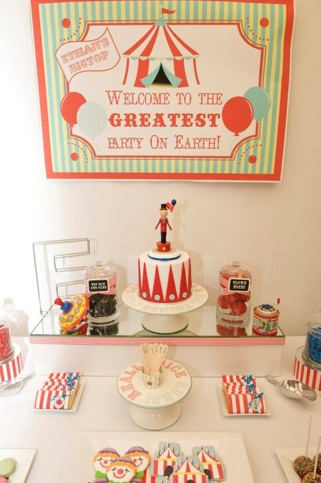 Fun circus themed dessert bar/buffet by Ribbon Whirls - Ribbon Whirls, Party & Event Planning, Norwood, SA, 5067 - TrueLocal