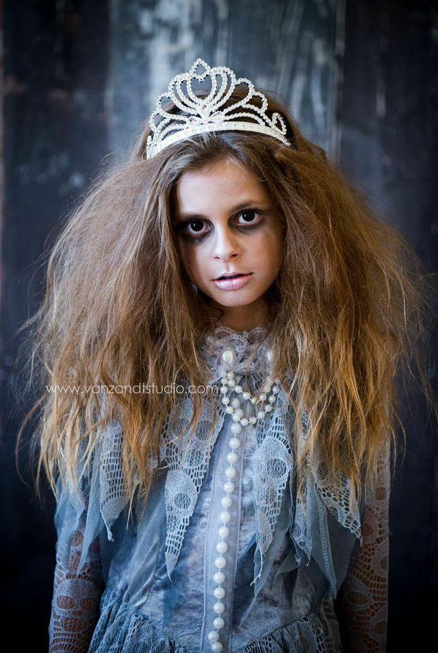 #brooklyn #halloween #zombie #makeup #princess #model #vanzandtstudios #kid #scary #fashion #children #little #girl