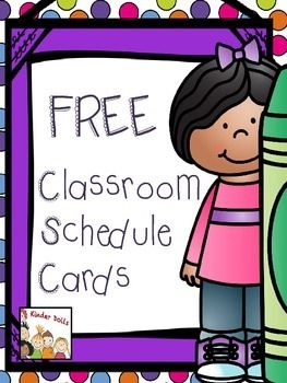 These classroom schedule cards will be a great addition to any classroom. They are bright, fun, and free. Please leave feedback