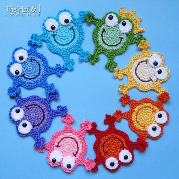 CROCHET PATTERN Hoppy Frogs a crochet frog pattern by TheHatandI