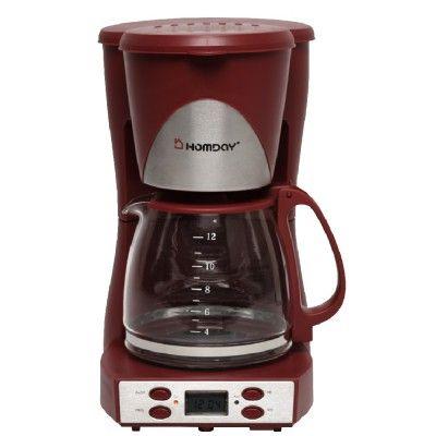 Cafetière rouge 1,5 L Homday - Electroménager - Cuisine - Cuisine / Art de la table | GiFi