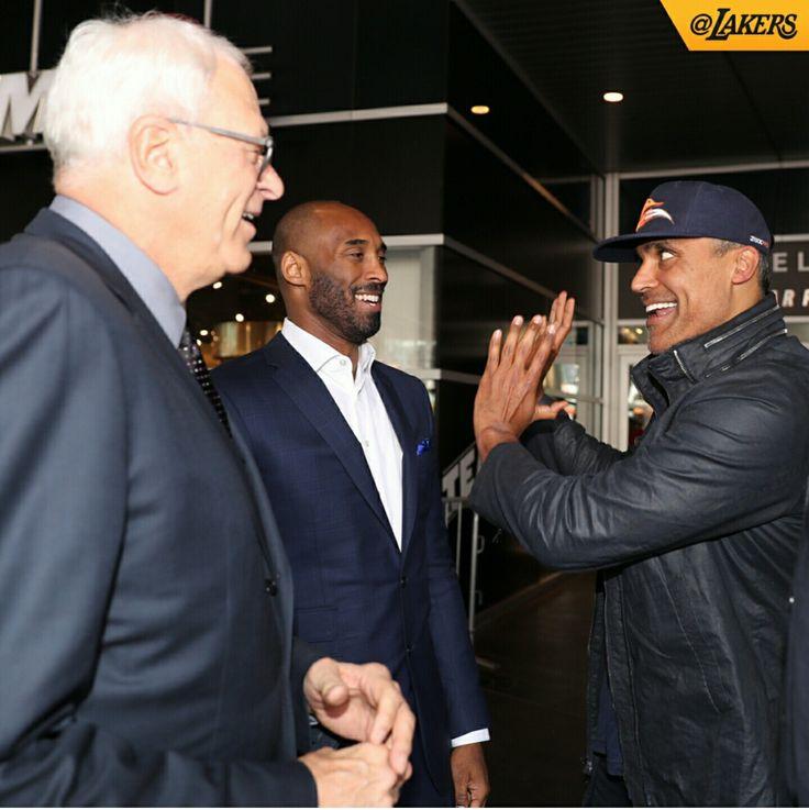 Phil Jackson, Kobe Bryant, & Rick Fox