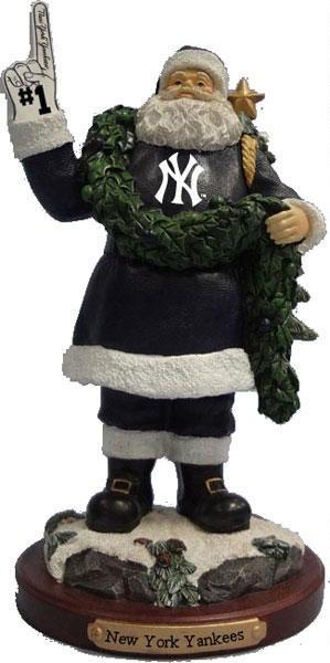 New York Yankees 2012 #1 Foam Finger Santa Figurine