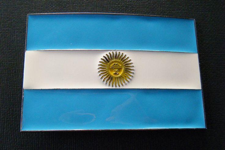 Argentina Buenos Aires Soccer Flag Metal Belt Buckle Boucle De Ceinture #argentina #flag #argentinaflag #beltbuckle #flagbuckle #soccer