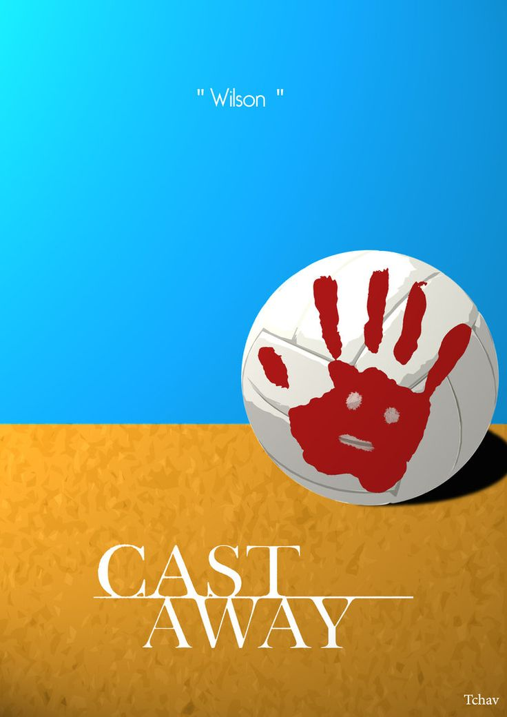 Cast Away Minimalist Poster by Tchav on deviantART