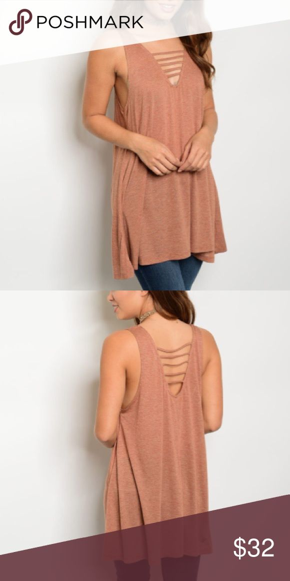 """🆕 Rust Lace Up Top Ok ladies!!! These tank tops are so cute. Wear with your favorite pair of shorts or leggings . Accessorize with your favorite statement jewelry. Features lace up front and back  Very soft material  80% polyester / 20% cotton   💋Small: Bust:40"""" Length:28"""" 💋Medium:Bust:42"""" Length:29"""" 💋Large:Bust:44"""" Length:29"""" Bewitched Boutique Tops Tank Tops"""