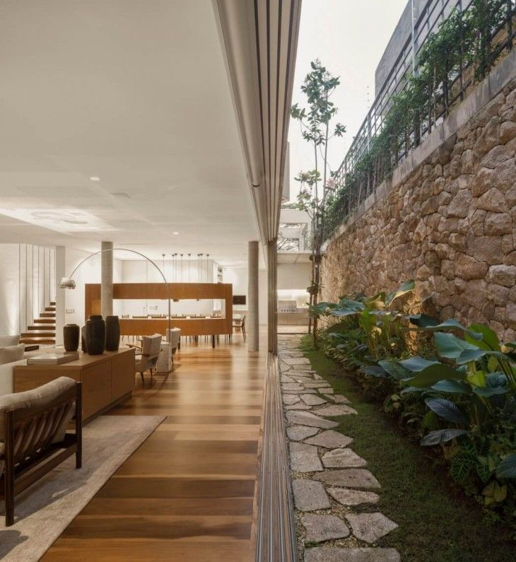 Casa C by Studio Arthur Casas — Love the way the open rim of space around the subterranean area, feels open with tons of natural light. Super smart!