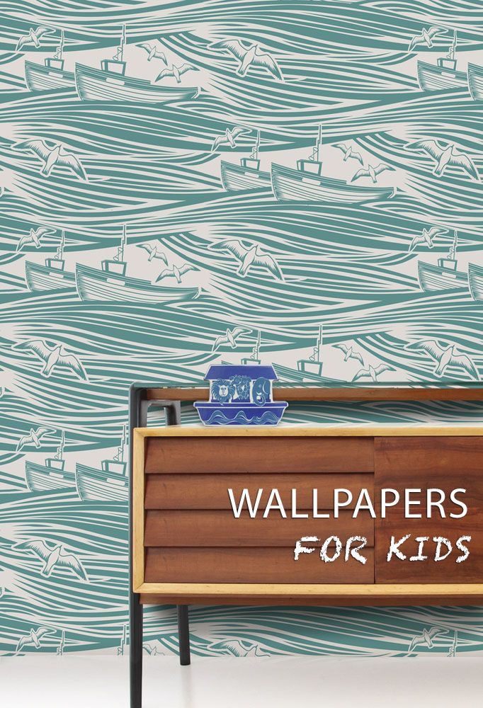Hither & Thither: 21 Wallpapers for Kids' rooms