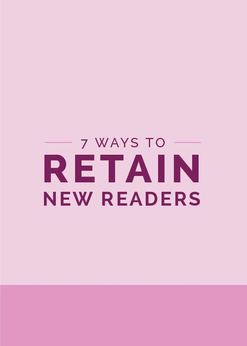 Attention bloggers: There's no use in putting all that work into promoting and pinning and tweeting your content to bring new readers to your site if they read one post and never return. Your blog should be a buffet of awesome that readers cannot help but