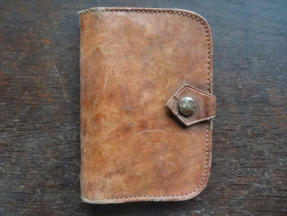 115 kr. Vintage English Large Leather Coin Purse Money Card by EnglishShop