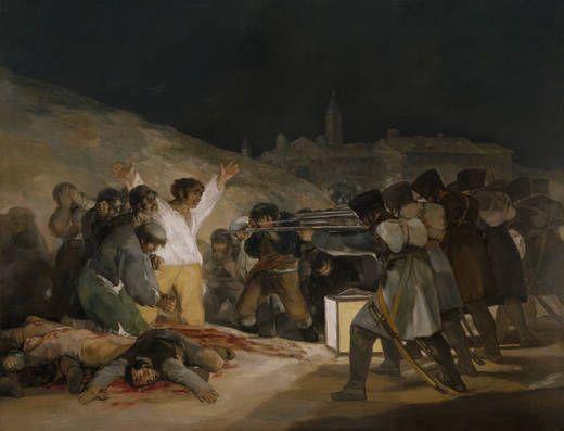 Francisco Goya y Lucientes, El tres de mayo de 1808, o Los fusilamientos en la montaña del Príncipe Pío, 1814