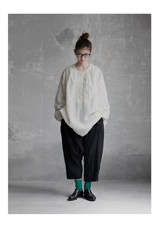 【送料無料】Joie de Vivreフレンチリネンワッシャーアトリエワークシャツ