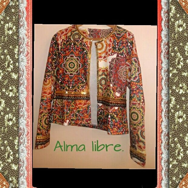 Chaqueta hippie chic.  instagram:almalibreboutique +569551581064