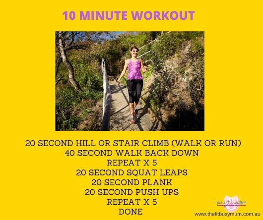 10 minute workout ideas